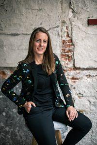 Pauline Verhaar, Partner at KatThree seated and looking at the camera